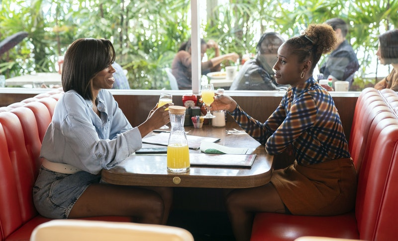 Yvonne Orji as Molly and Issa Rae as Issa in 'Insecure' Season 4, via WarnerMedia Group press site