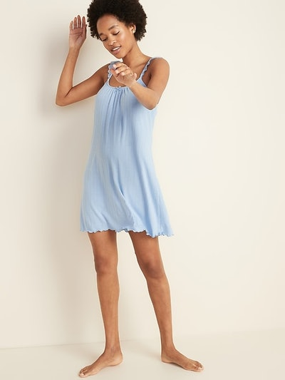 Old Navy Pointelle-Knit Lace-Trim Cami Nightgown