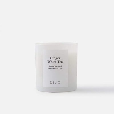 Sijo Luxury Natural Coconut Wax Ginger White Tea Aromatherapy Scented Candles (8.5 Ounces)