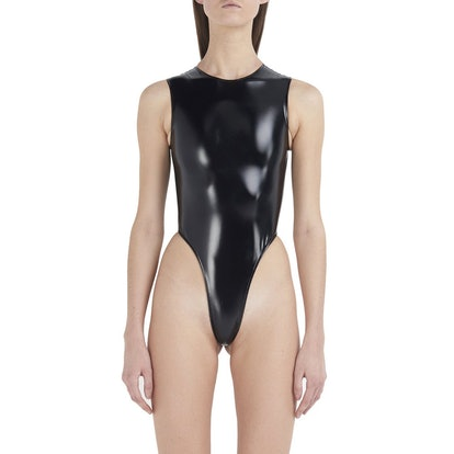 LaQuan Smith PVC Laura Bodysuit