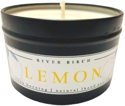 River Birch Scented Candles Lemon Scented Candle (8 Ounces)
