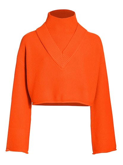 Victor Glemaud Highneck Bell-Sleeve Knit Wool Sweater