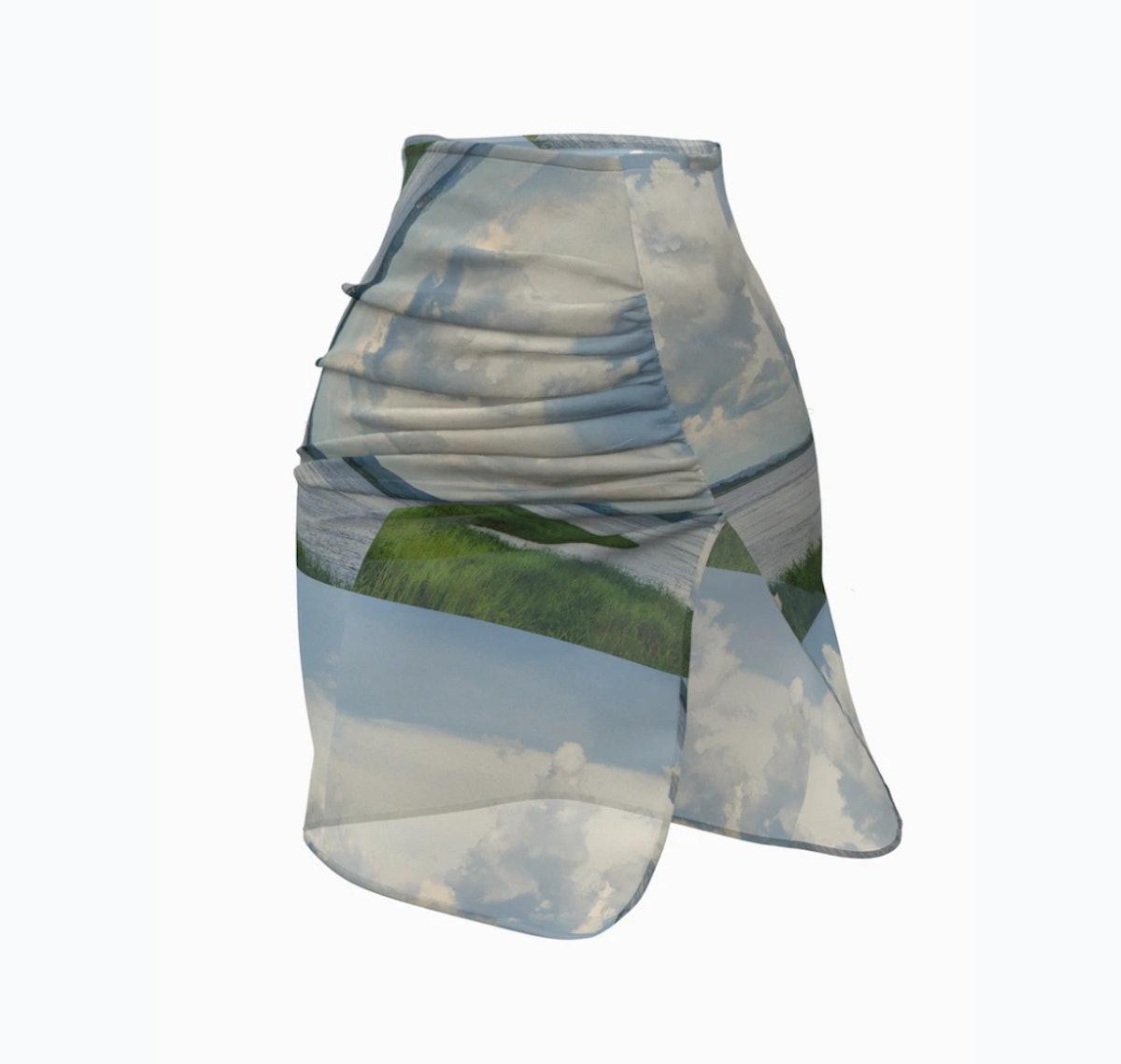 Hanifa Pink Label Congo Mái Mini Skirt