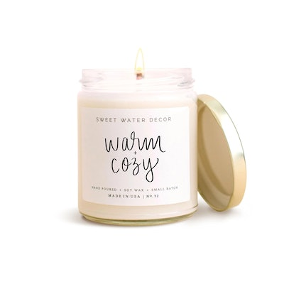 Sweet Water Decor Warm & Cozy Candle (9 Ounces)