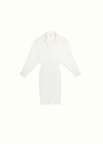 SATIN SHIRT DRESS