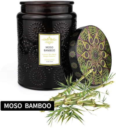 TOFU Candles Luxury Coconut Wax Moso Bamboo Candle (16 Ounces)