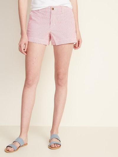 Old Navy Mid-Rise Everyday Seersucker Shorts