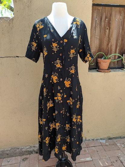 Label By Three Carina Dress Black Floral