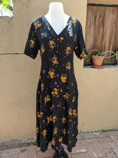 Label By Three Carina Dress Black Floral