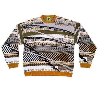 Tkcxyy Glitch-Isle Tweed Pullover