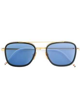 Navy & 18k Gold Sunglasses