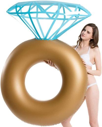 Jasonwell Inflatable Diamond Ring Pool Float