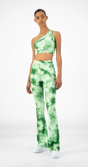 Daily Paper Green Tie Dye Reflare Pants