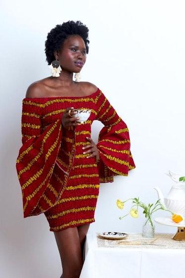 Wax & Wonder African Bodycon Dress