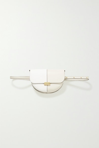 Anna Two-Tone Leather Shoulder Bag