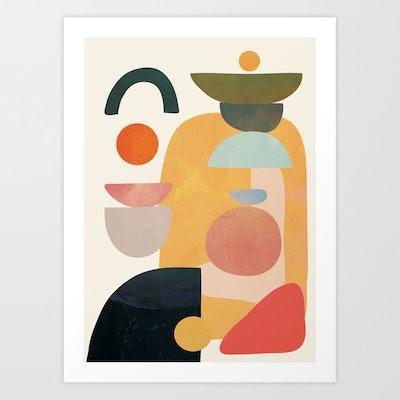 Modern Abstract Art Print by City Art