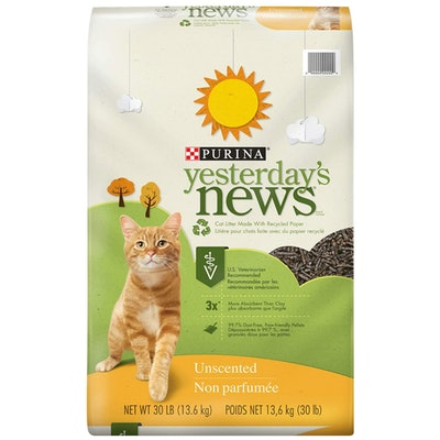 Purina Yesterday's News Non Clumping Paper Cat Litter (30 Pounds)