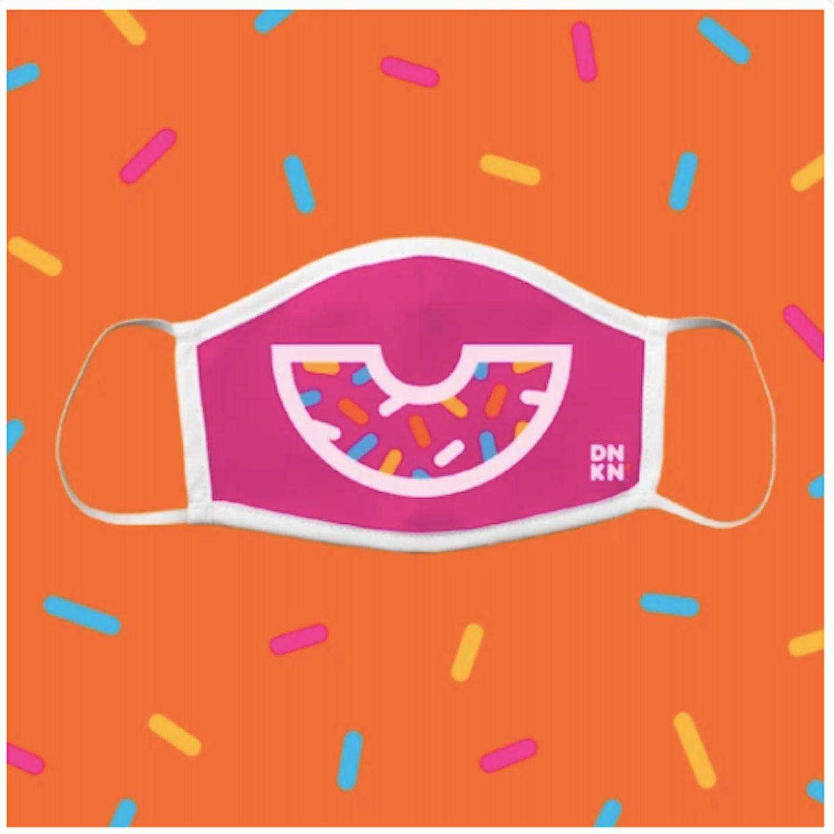 Pink Donut Smile Mask