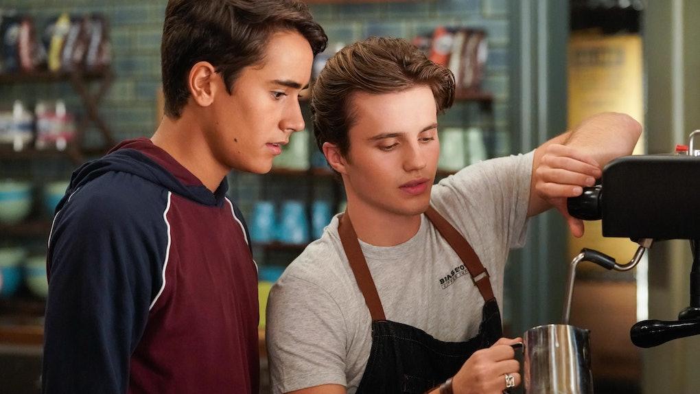 Benji and Victor in Hulu's LGBTQ series 'Love, Victor'