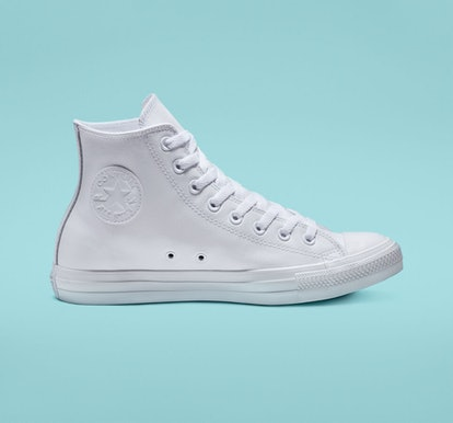 Chuck Taylor All Star Leather White Monochrome Hightop