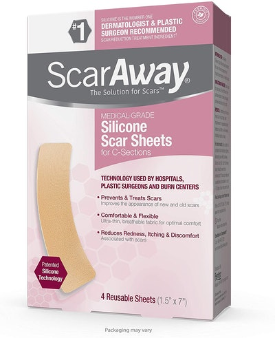 ScarAway Silicone Scar Sheets For C-Sections (4-Pack)