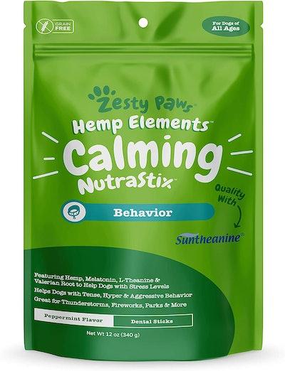 Zesty Paws Calming Dental Sticks For Dogs (12 Ounces)