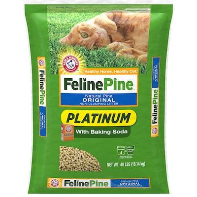Feline Pine Platinum Cat Litter (40 Pounds)