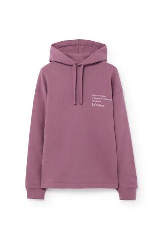 Hephaestus Hooded Sweatshirt Purple