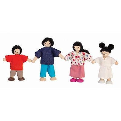Plan Toys Asian Wooden Dollhouse Family