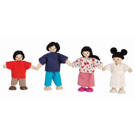 Plan Toys Asian Wooden Dollhouse Family