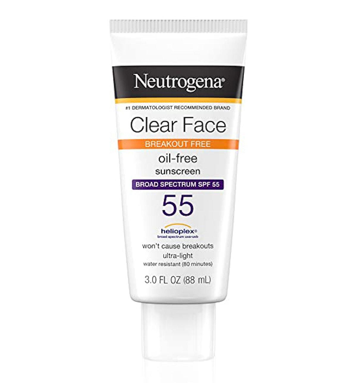 Neutrogena Clear Face Liquid Lotion Sunscreen