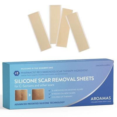 Aroamas Silicone Scar Removal Sheets (4-Pack)