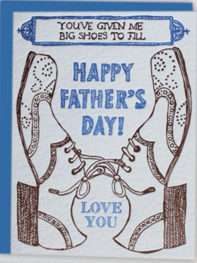 Big Shoes to Fill Father's Day card