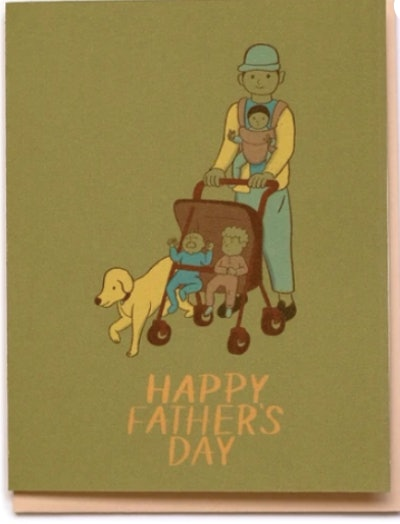 Father's Day Strolling Card