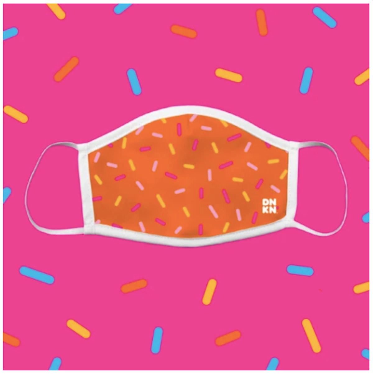 Dunkin' Orange Sprinkled With Joy Mask