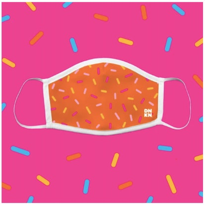 Dunkin' Orange Sprinkled With Joy Mask