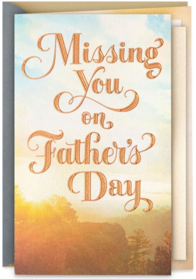 Glad We're Close in Heart Father's Day Card