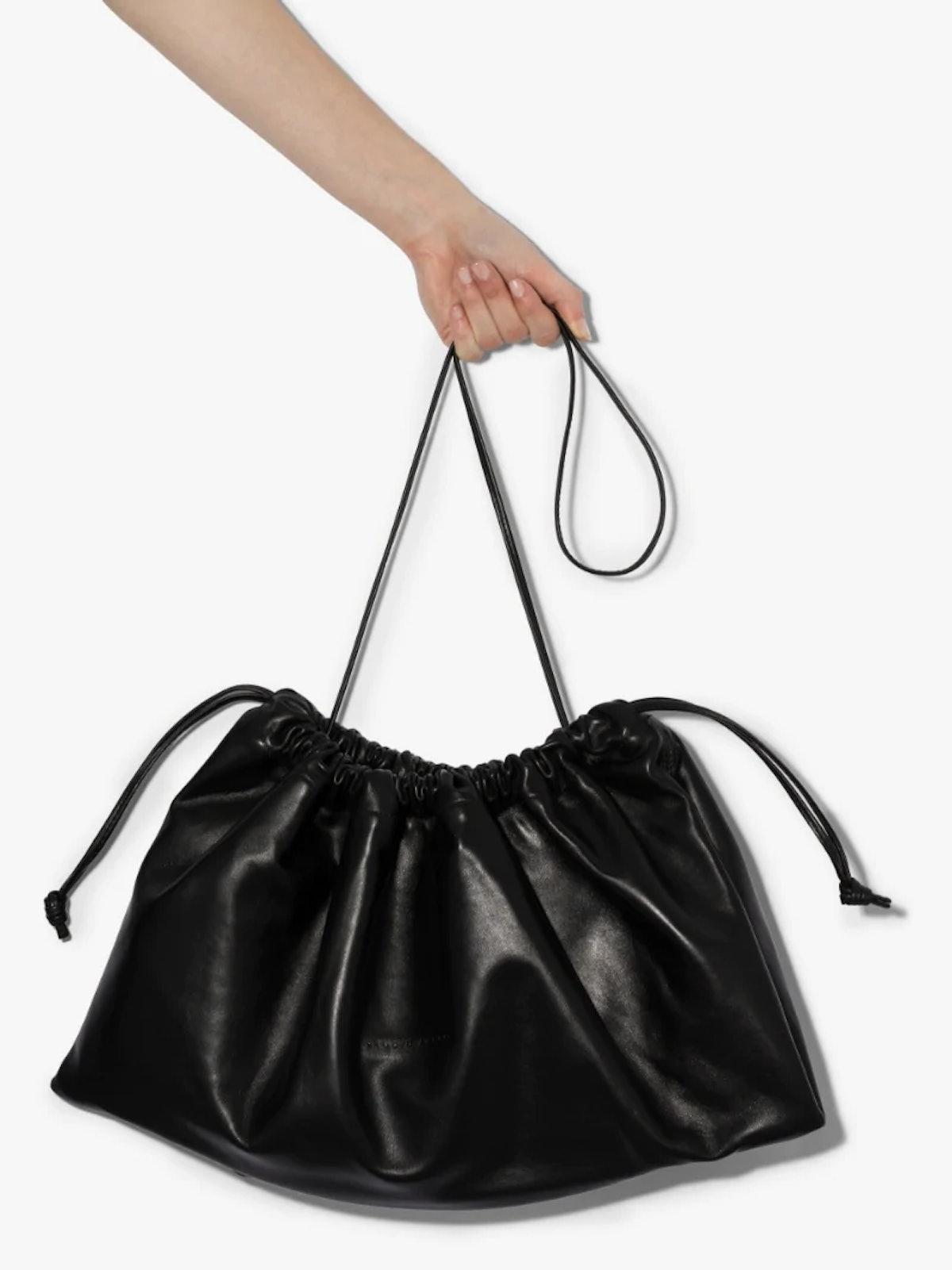 Black 1.3 Maxi Leather Bag