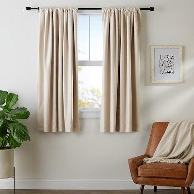 AmazonBasics Room Darkening Blackout Window Panel Curtains (2-Pack)