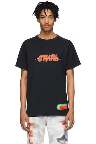 Black Spray 'Style' T-Shirt
