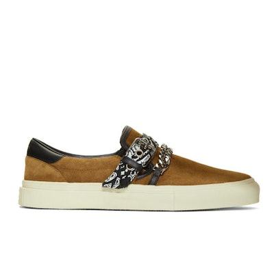 Brown Suede Bandana Sneakers