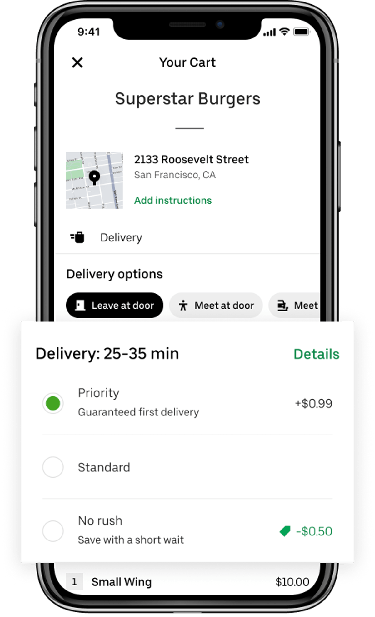 Uber Eats' new Priority Delivery option can cut your wait time by 10 minutes.