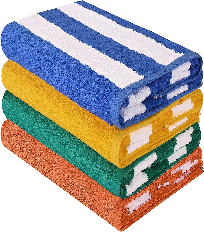 Utopia Towels Cabana Stripe Beach Towel (4-Pack)