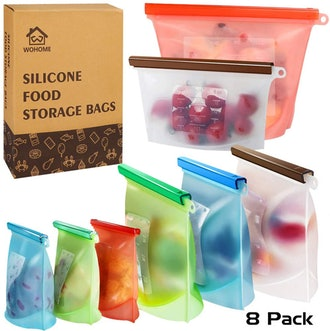 WOHOME Reusable Silicone Food Storage Bags