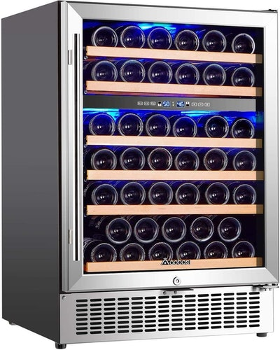 AAOBOSI Dual Zone Wine Fridge