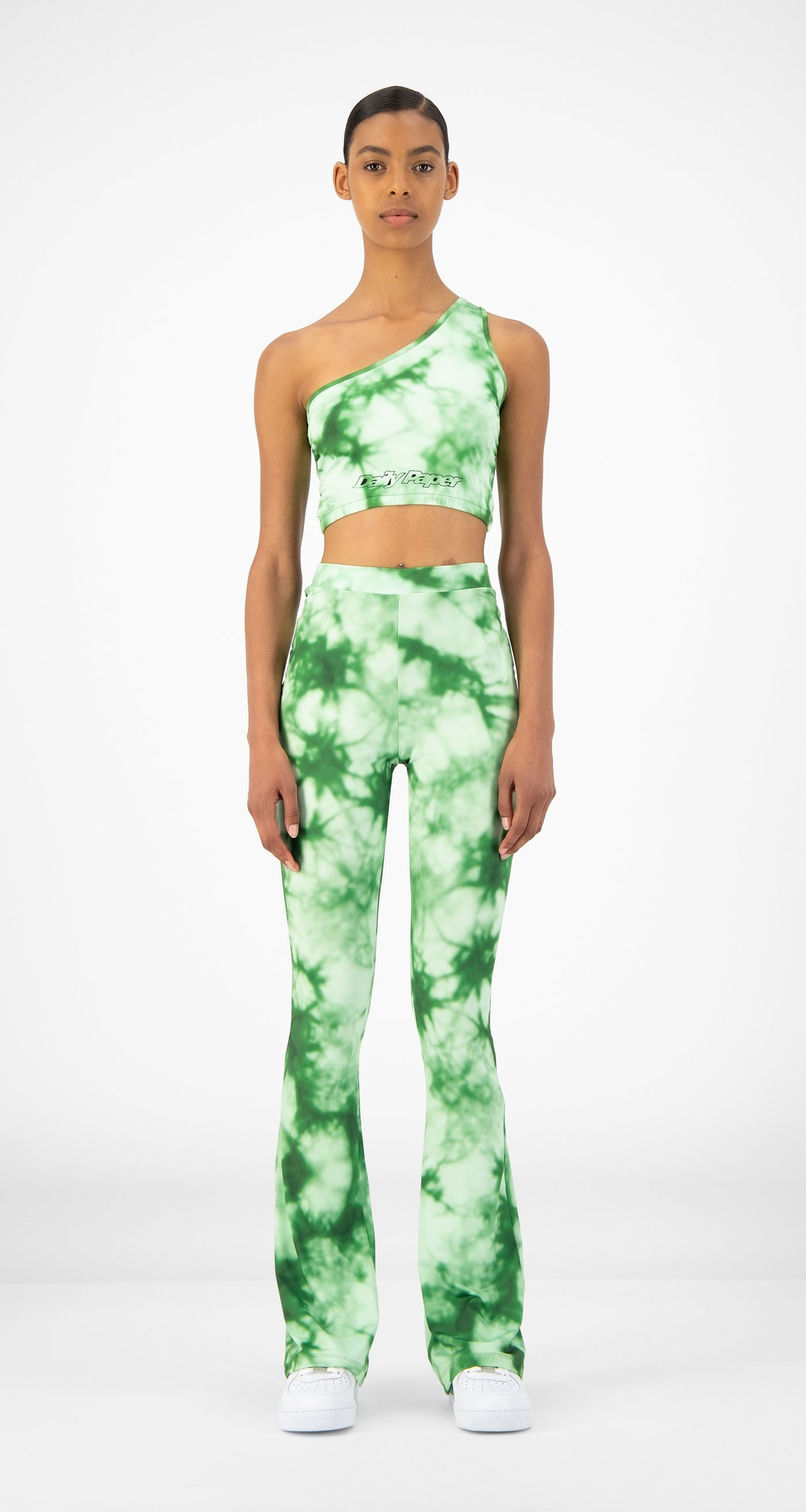 Daily Paper Green Tie Dye Resymetric Top