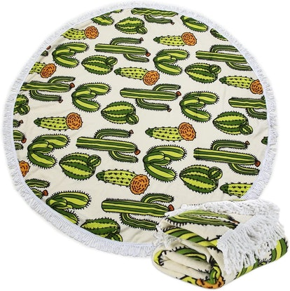 Polly House Large Round Beach Towel