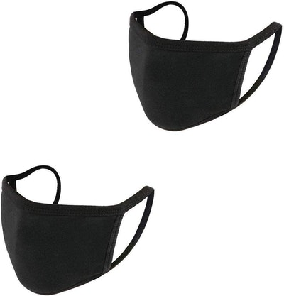 auempress Black Cotton Face Masks (2-Pack)