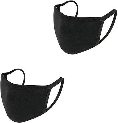 auempress Black Cotton Face Masks (2-Pack)