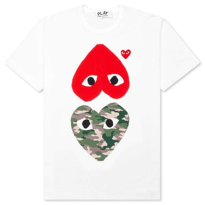 Play Camouflage Mirror Heart T-shirt